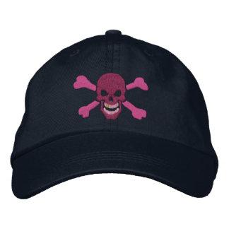 Bordado clásico del cráneo de la bandera pirata gorra de beisbol bordada
