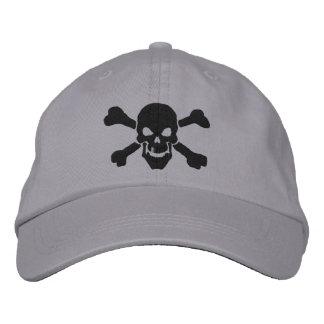 Bordado clásico del cráneo de la bandera pirata gorros bordados