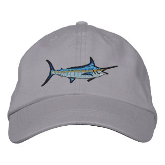 Bordado de la aguja azul de la pesca deportiva gorras de beisbol bordadas