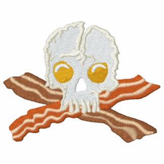 Bordado del cráneo de los huevos de la bandera chaquetas bordadas