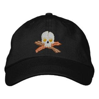 Bordado del cráneo de los huevos de la bandera pir gorra de béisbol