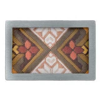 Bordado del vintage hebilla de cinturon rectangular