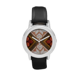 Bordado del vintage reloj de mano