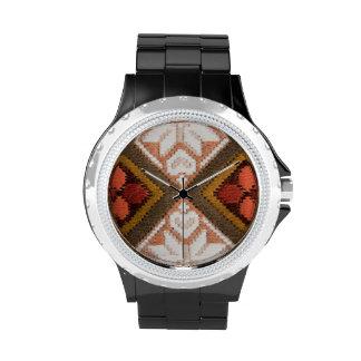 Bordado del vintage reloj