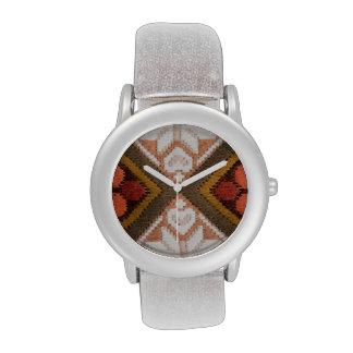 Bordado del vintage relojes de pulsera