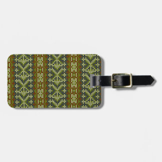 Bordado geométrico elegante de la teja etiquetas bolsa