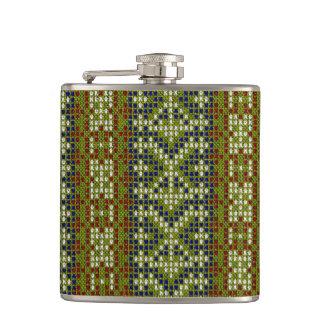 Bordado geométrico elegante de la teja petaca