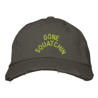 Bordado ido de Squatchin Gorras Bordadas