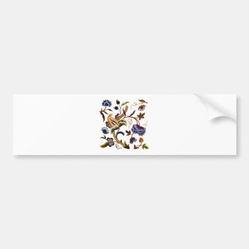 Bordado jacobeo isabelino hermoso etiqueta de parachoque