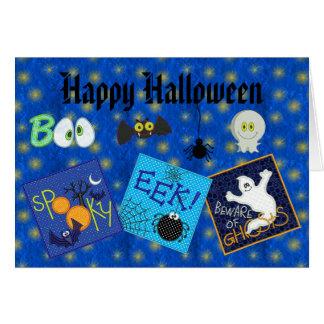 Bordado lindo Halloween de los fantasmas, de las Felicitaciones