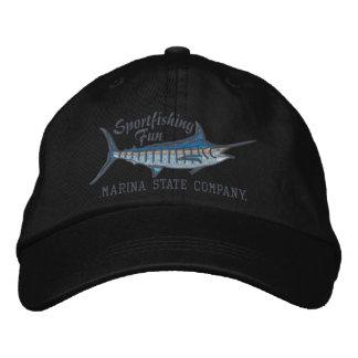 Bordado personalizado de la aguja azul de la pesca gorras de béisbol bordadas