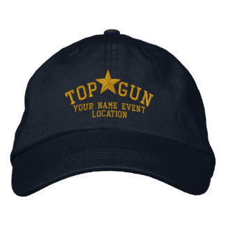 Bordado personalizado de la estrella de Top Gun Gorra De Beisbol Bordada