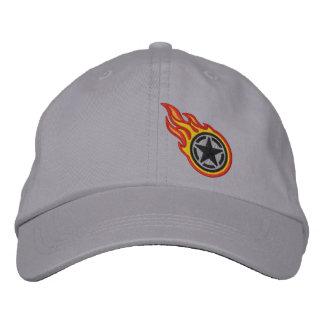 Bordado retro de la bala de las llamas de la gorra bordada
