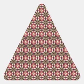 Bordado retro pegatina triangular
