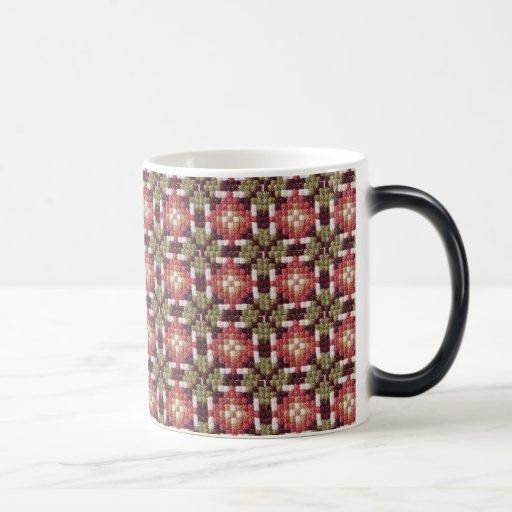 Bordado retro taza de café