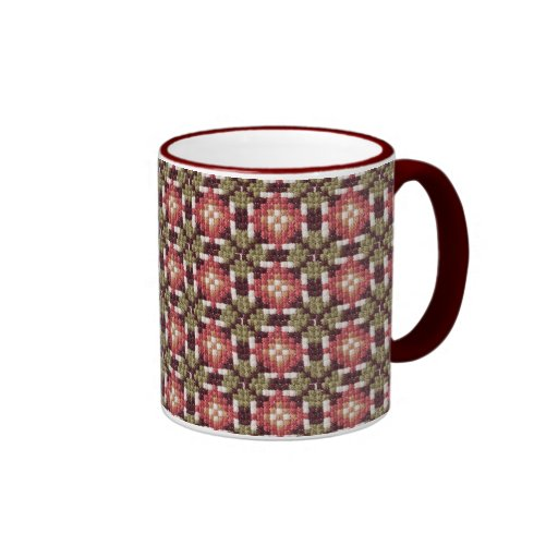 Bordado retro tazas de café