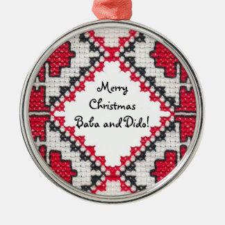 Bordado ucraniano ornamentos de navidad
