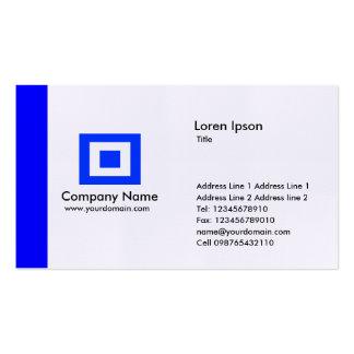 Borde - azul tarjetas de visita
