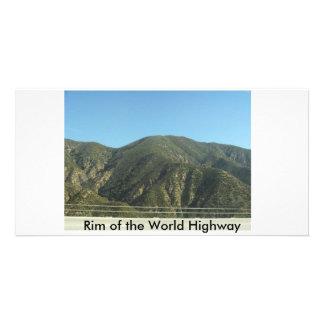 Borde de la carretera del mundo tarjetas con fotos personalizadas