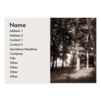 Borde de las maderas tarjetas de visita