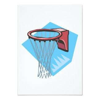 Borde del baloncesto invitación 12,7 x 17,8 cm
