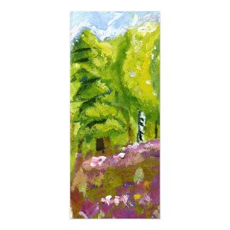 Borde del bosque invitación 10,1 x 23,5 cm