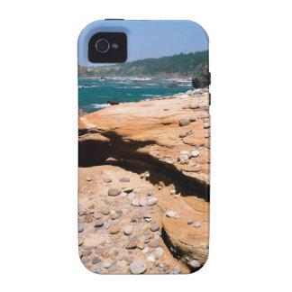 Borde del camino de la nutria de la erosión de la  iPhone 4 fundas
