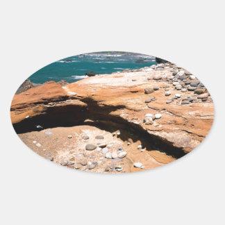Borde del camino de la nutria de la erosión de la pegatina ovaladas personalizadas
