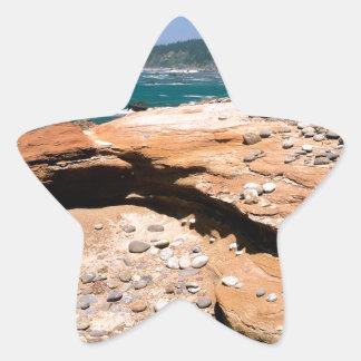 Borde del camino de la nutria de la erosión de la calcomanías forma de estrella personalizadas