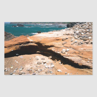 Borde del camino de la nutria de la erosión de la rectangular pegatina