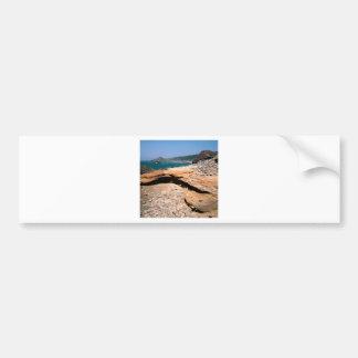 Borde del camino de la nutria de la erosión de la  pegatina de parachoque