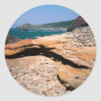 Borde del camino de la nutria de la erosión de la pegatina redonda