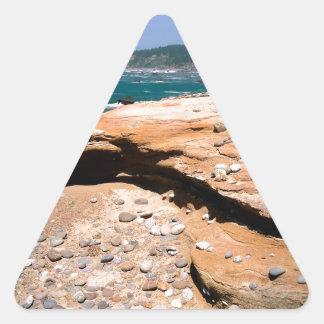 Borde del camino de la nutria de la erosión de la pegatina triangular