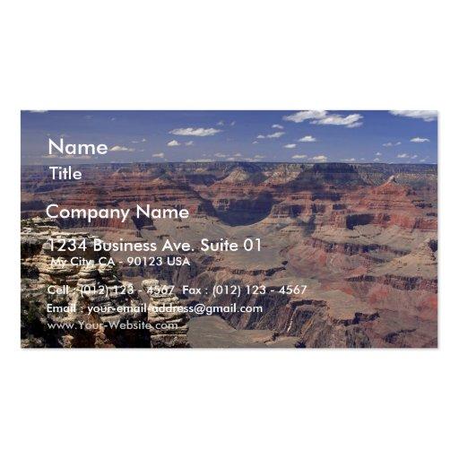 Borde del sur del Gran Cañón en Arizona Plantilla De Tarjeta Personal