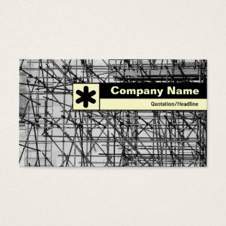 Borde etiquetado - andamio tarjeta de negocios