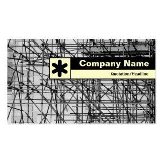 Borde etiquetado - andamio tarjetas de visita