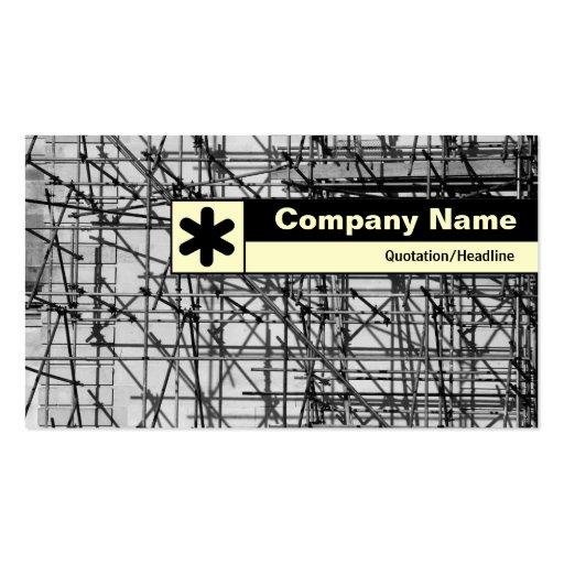 Borde etiquetado - andamio tarjetas personales