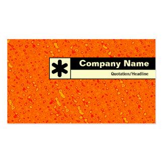Borde etiquetado - mar de la mermelada tarjetas de visita