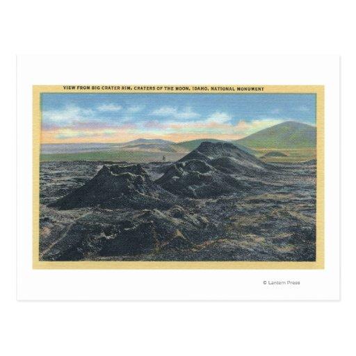 Borde grande del cráter del parque nacional de postal