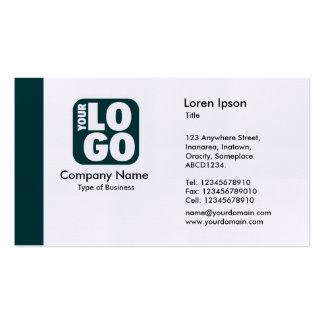 Borde (logotipo) - verde oscuro tarjetas de visita