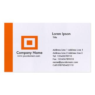 Borde - naranja tarjetas de visita