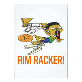Borde Racker Invitación 12,7 X 17,8 Cm