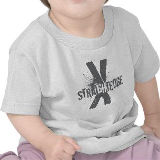 Borde recto X gris oscuro Camiseta