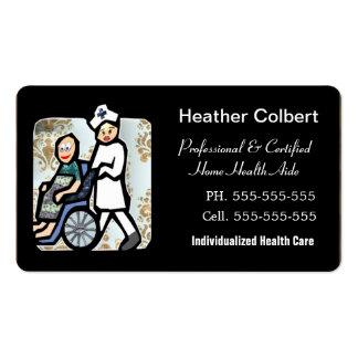 Borde redondeado profesional del cuidador tarjetas de visita