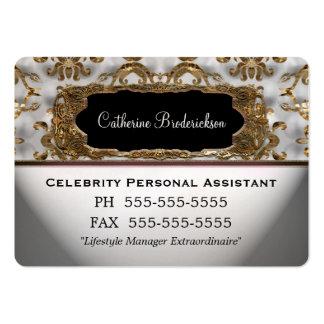 Borde redondo profesional del ayudante personal de tarjetas de visita grandes