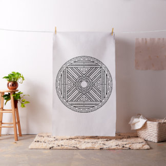 Borde su propia tela abstracta de la mandala