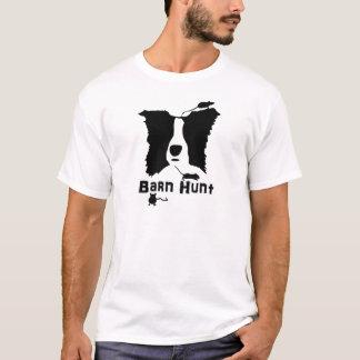 Border collie - caza del granero camiseta