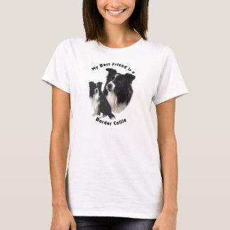 Border collie del mejor amigo camiseta