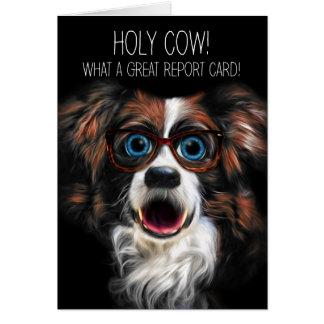 Border collie divertido de la buena enhorabuena de tarjeta de felicitación