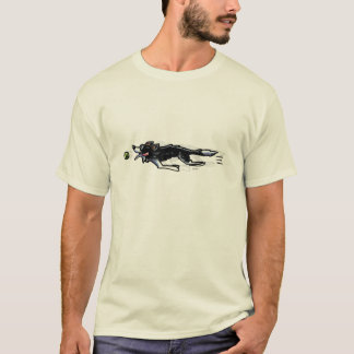 Border collie en la acción camiseta